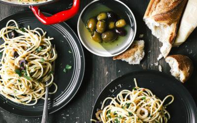 Summer Olive and Antipasti Pasta Recipe