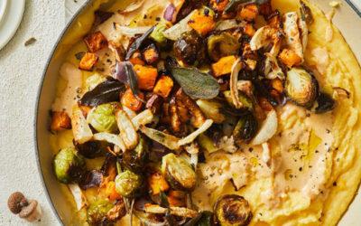 Pumpkin Sage Polenta with Roasted Vegetables